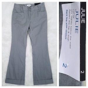 New LOFT Julie Flare Leg Cuffed Trousers - Size 2